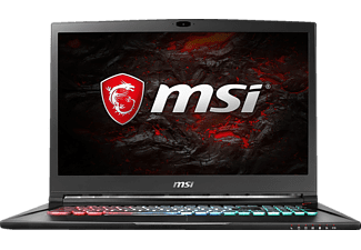 MSI GS73 7RE-014DE Stealth Pro, Gaming Notebook mit 17.3 Zoll Display, Core™ i7 Prozessor, 16 GB RAM, 256 GB SSD, 1 TB HDD, GeForce GTX 1050 Ti, Schwarz