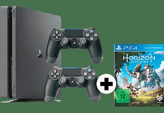 SONY PlayStation 4 Slim Konsole 1TB Schwarz + Horizon Zero Dawn + 2 Controller