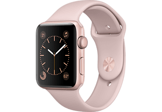 APPLE Watch Series 2 - 42mm Aluminiumboett i rosa guld & sandrosa sportband