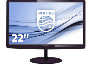 PHILIPS 227E6LDAD, LED Monitor mit 54.6 cm / 21.5 Zoll Full-HD Display, 1 ms Reaktionszeit, Anschlüsse: 1x VGA (Analog), 1x DVI-D (digitaler HDCP), 1x MHL-HDMI (digital, HDCP)