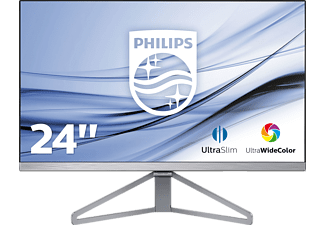 PHILIPS 245C7QJSB, Monitor mit 60.5 cm / 23.8 Zoll Full-HD Display, 5 ms Reaktionszeit, Anschlüsse: 1x VGA (Analog), 1x DisplayPort 1.2, 1x HDMI (digital, HDCP), 1x Audio-Ausgang