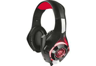 TRUST, Trust GXT 313 Nero Beleuchtetes Gaming-Headset, Gaming Headset, Schwarz/Rot