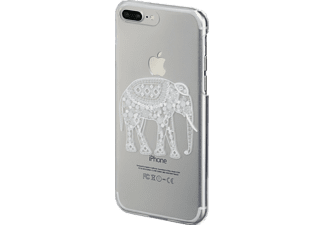 HAMA Hathi, Apple, Backcover, iPhone 6, iPhone 6s, iPhone 7 Plus, Kunststoff, Transparent/Weiß