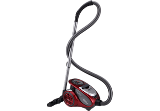 HOOVER XP81_XP25 Xarion Pro, Staubsauger ohne Beutel, Flammenrot-metallic/ Anthrazit