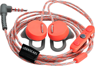 URBANEARS Reimers Rush Android, In-ear Kopfhörer, Headsetfunktion, Grau/Rot