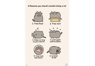 Pusheen Poster 6 reasons you should conisder being a cat