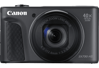 CANON Powershot SX730 HS Digitalkamera, 20.3 Megapixel, 40x opt. Zoom, Full HD, CMOS Sensor, Near Field Communication, WLAN, 24-960 mm Brennweite, Autofokus, Schwarz