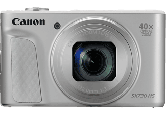 CANON Powershot SX730 HS Digitalkamera, 20.3 Megapixel, 40x opt. Zoom, Full HD, CMOS Sensor, Near Field Communication, 24-960 mm Brennweite, Autofokus, Silber