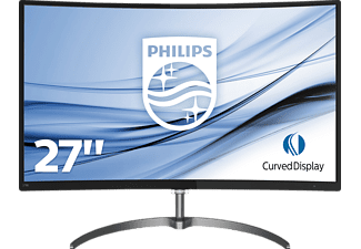 "PHILIPS 278E8QJAB 27 Zoll Full-HD Geschwungener LCD-Monitor mit Ultra Wide Color mit ""Flicker-Free""-Technologie (1x VGA (Analog), 1x DisplayPort, 1x HDMI (digital, HDCP), Synchronisationseingang: Separate Synchronisation, Synchronisation auf Grün, 1x PC-Audio-Eingang, 1x Kopfhörer-Ausgang Kanäle, 4 ms (Grau zu Grau) Reaktionszeit)"