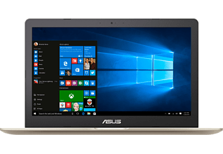 ASUS N580VD-FI033T, Notebook mit 15.6 Zoll Display, Core™ i7 Prozessor, 16 GB RAM, 1 TB HDD, 256 GB SSD, GeForce® GTX 1050, Gold Metal