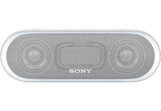 SONY SRS-XB 20, Bluetooth Lautsprecher, Near Field Communication, Wasserfest, Weiß