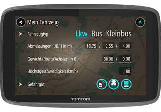 TOMTOM GO Professional 6200, Bus, LKW Navigationsgerät, 6 Zoll, Kartenmaterial Europa, Micro-SD Slot, inkl. Lifetime card updates