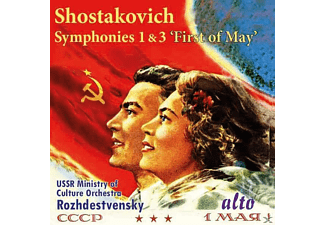 The Ussr Ministry Of Culture Orchestra, Yurlov Russian Choir - Sinfonien 1 & 3 - (CD)