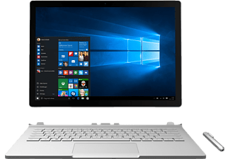 MICROSOFT Surface Book, Convertible mit 13.5 Zoll, 8 GB RAM, Core™ i5 Prozessor, Windows 10 Pro, Silber