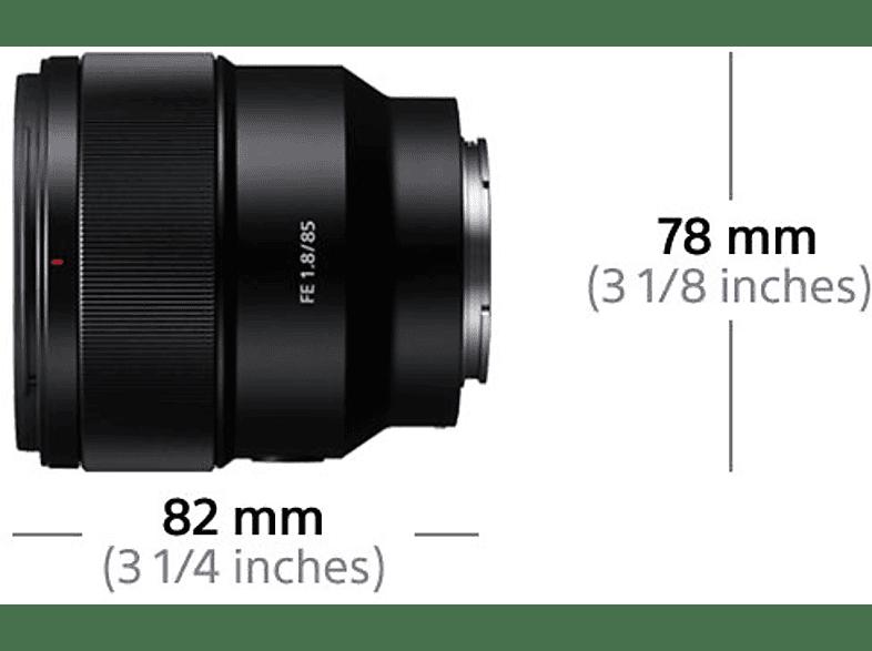 SONY SEL 85 F Objektiv, 85 mm-85 mm f/1.8, Festbrennweti