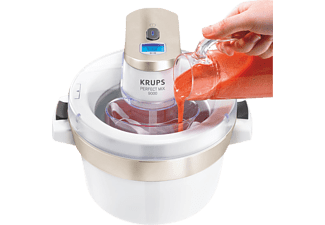 KRUPS GVS241 Perfect Mix 9000 Eismaschine (6 Watt, Chrom/Weiß)