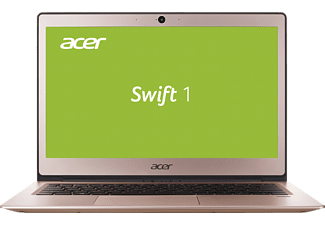ACER Swift 1 (SF113-31-C6WU), Notebook mit 13.3 Zoll Display, Celeron® Prozessor, 4 GB RAM, 64 GB eMMC, HD-Grafik 500, Pink