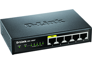 D-LINK 5-Port Layer2 PoE Fast Ethernet, Desktop Switch