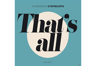Alessandro D'episcopo - THAT S ALL-PIANO SOLO - (CD)