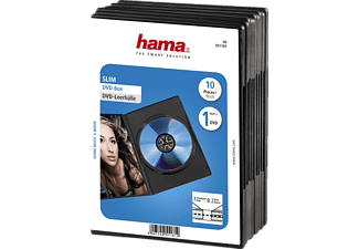 HAMA DVD slim box 10-pack zwart