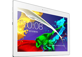 LENOVO Tab 2 A10-30, Tablet mit 10.1 Zoll, 16 GB Speicher, 2 GB RAM, LTE, Android, Pearl White
