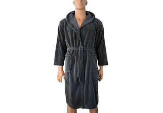 Henryïs Bademantel Fleece Anthrazit