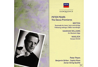 Peter Pears, Benjamin Britten, Sophie Wyss, Zorian String Quartet - Peter Pears-The Decca Premieres - (CD)