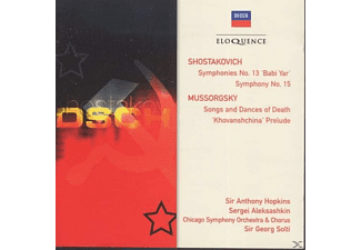 Men of the Chicago Symphony Chorus, Anthony Hopkins, Chicago Symphony Orchestra, Sergei Aleksashkin - Dimitri Schostakowitsch: Symphonien Nr.13 & 15 - (CD)