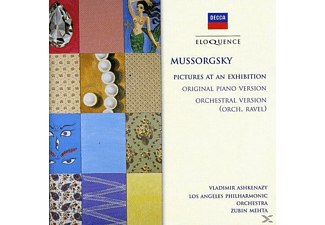 Zubin Mehta, Los Angeles Philharmonic Orchestra, VARIOUS, Vladimir Ashkenazy - Mussorgsky: Pictures At An Exhibition (Piano & Orchestral Versions) - (CD)