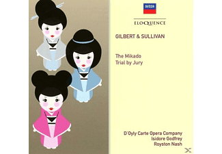 Adams/Round/Reed/Goss/Pratt/Godfrey/Nash/Sandford/ - Gilbert & Sullivan: The Mikado & Trial by Jury - (CD)
