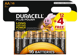 DURACELL Plus Power Alkaline AA Batterien, 16er Pack (LR6/MN1500)