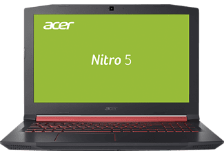 ACER Nitro 5 (AN515-51-76JZ), Notebook mit 15.6 Zoll Display, Core™ i7 Prozessor, 8 GB RAM, 128 GB SSD, 1 TB HDD, GeForce® GTX 1050, Schwarz mit roten Applikationen