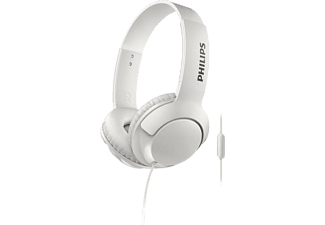 PHILIPS SHL3075 WT, On-ear Kopfhörer, Headsetfunktion, Weiß