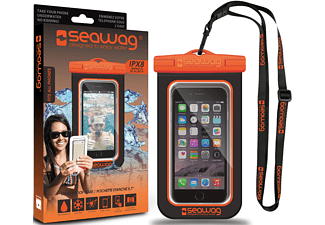 SEAWAG Β5Χ Waterproof Case For Smartphone Black & Orange