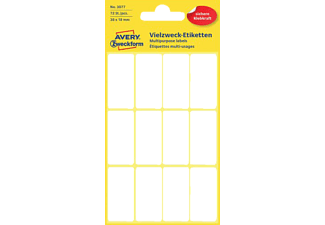 AVERY ZWECKFORM 3077 Mini-Organisations-Etiketten  38x18 mm  72 Etiketten / 6 Bogen