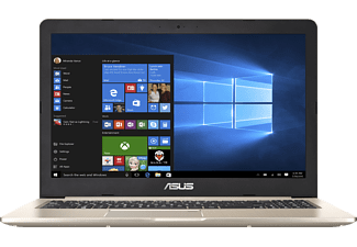 ASUS Vivobook Pro N580VD-FI033T, Gaming Notebook mit 15.6 Zoll Display, Core™ i7 Prozessor, 16 GB RAM, 1 TB HDD, 256 GB SSD, GeForce® GTX 1050, Gold Metal
