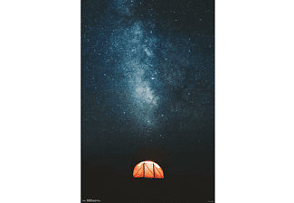 Under the Stars Poster Zelt & Sternenhimmel