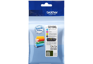 BROTHER Original Tintenpatrone Multipack Schwarz/Cyan/Magenta/Yellow (LC3219XLVALDR)