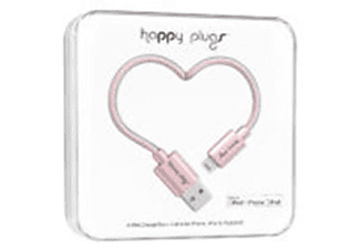 HAPPY PLUGS 9932 lıghtnıng to usb charge/sync cable 2 m pınk gold