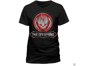 The Offspring - Distressed Skull (T-Shirt,Schwarz,Größe L)