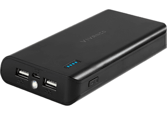 VIVANCO Power Bank 16000 mAh - Svart