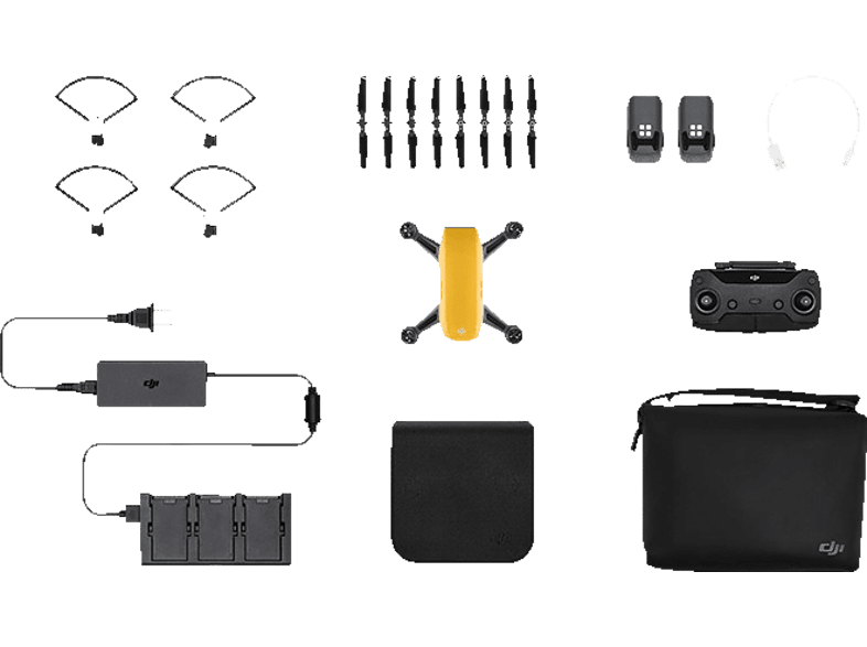 DJI Spark Sunrise Yellow Fly More Combo hobby   φωτογραφία drones   τηλεκατευθυνόμενα drones
