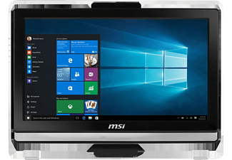 MSI Pro 20T 6M-026DE, All-in-One PC mit 20 Zoll, Anti-Glare, LED-Backlight Display, 128 GB Speicher, 4 GB RAM, Core™ i3 Prozessor, Schwarz
