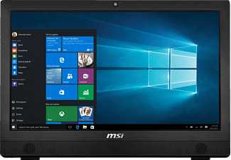 MSI Pro 24T 6M-030DE, All-in-One PC mit 23.6 Zoll, Anti-Glare Display, 128 GB Speicher, 4 GB RAM, Core™ i3 Prozessor, Schwarz