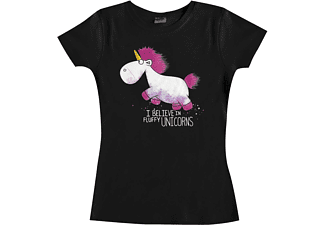 Despicable Me 3 Girlie Shirt I Believe In Fluffy Unicorns M