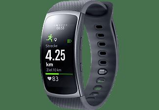 SAMSUNG  Gear Fit 2 Smartwatch Kunststoff, L, Schwarz