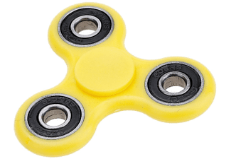 CONNECTECH Fidget Spinner Plast - Gul