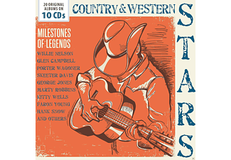 VARIOUS, Willie Nelson, Glen Campbell, Bob Luman, Webb Pierce, Kitty Wells, Skeeter Davis, Stonewall Jackson, Leroy Van Dyke, Tommy Collins, George Jones, Skeets McDonald, Marty Robbins, Marvin Rainwater, Porter Wagoner, Warl Smith, Faron Young, Claude King, Hank Snow, Hank Thompson, Little Jimmy Dickens - tbc-Country & Western Stars - (CD)