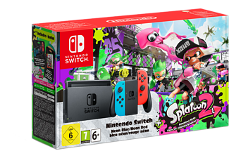 NINTENDO Switch - Röd/Blå (inkl Splatoon 2)