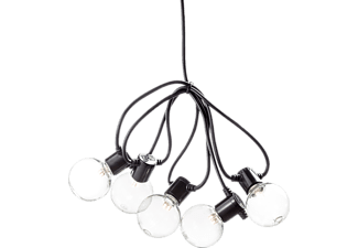 KONSTSMIDE 2373-100 LED Lichterkette, Schwarz/Transparent, Warmweiß